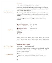 One Page Resumes Examples Resume Sample