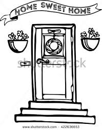 door clipart black and white. Front Door Clipart Black And White Modren Collection Inside