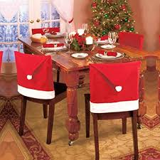 lohome santa hat chair covers set of 4 pcs e red hat chair