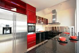 Red Wall Kitchen As Red Wall Kitchen Paint Colors In Traditional Designs Excerpt