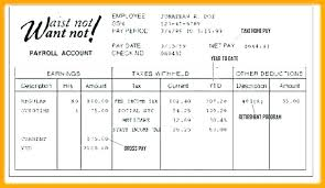 Awesome Create A Pay Stubs Free Stub Template Word Excel Format