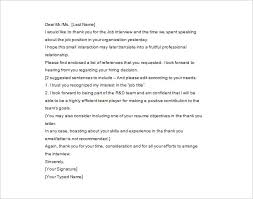 Sample Thank You Letter After First Interview PDF Format