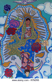 """wall painting (detail) of """"Our Lady of Guadalupe"""" by Kerry Alexis ..."""