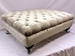 Deep Buttoned Footstool by Ralvern Upholstery