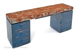 custom made office desks. Custom Made Office Desk With Rustic Distressed Metal Top Desks