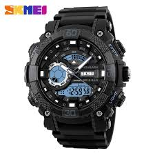 fashionable men watches promotion shop for promotional fashionable skmei 1228 men sport watch digital quartz watches led big dial clock 30m waterproof dual display wristwatches relogio masculino