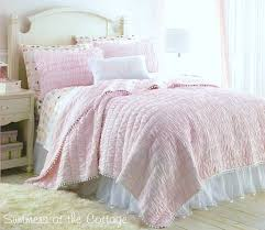 pink quilt bedding. Contemporary Pink White Dotted Netting Satin Bed Skirt Throughout Pink Quilt Bedding K
