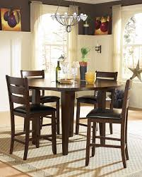 stylish homelegance ameillia counter height round dining collection d586 36 inch high dining table designs