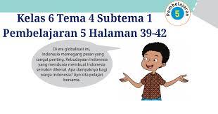 Materi dan jawaban halaman 41, 43, 44. Kunci Jawaban Tematik Kelas 6 Tema 3 Halaman 140 Guru Ilmu Sosial
