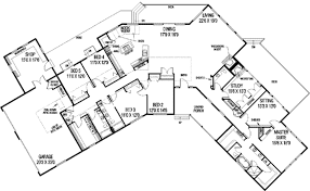 home floor plans. Ranch Style House Plan - 5 Beds 3.50 Baths 3821 Sq/Ft #60 Home Floor Plans