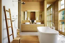 Master bathroom designs 2012 Open Concept The Spirit Of Midwestern Farm Says Architect Margaret Mccurry Of The Michigan Getaway She Designed For Chicago Couple The Master Bath Paneled Architectural Digest 37 Bathroom Design Ideas To Inspire Your Next Renovation