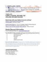 Dod Resume Template Dod Resume format New Resume Federal Templates Radiodigital 8