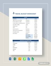 travel budget worksheet free 15 travel budget examples templates download now