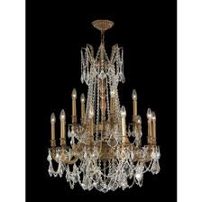 worldwide lighting w83310fg28 cl windsor 15 light french gold finish and clear crystal chandelier two tier