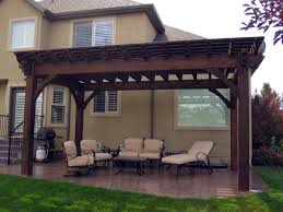 10 X 20 Pergola 12feet X 20feet Timber Frame Pergola Kit Installed Over  Backyard Patio For Shade Modern Sofa Elegant Item With Wooden