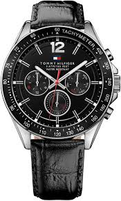 men s tommy hilfiger multi function leather strap watch 1791117