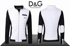 leather jackets dolce gabbana white wool puffer dg0501 mens