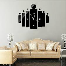 diy 3d home modern decor crystal mirror quartz wall clock time sticker