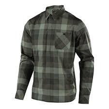 Troy Lee Designs Flannel Shirt Long Sleeve Grind Plaid Clay