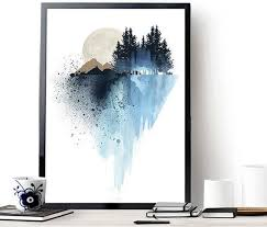 blue mountain wall art art prints