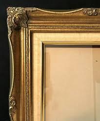 details about vintage gold gilt ornate carved wood painting frame baroque 15 1 2 x13 1 2
