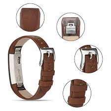 vancle fitbit alta hr band fitbit alta hr 2017 leather wristband adjustable replacement