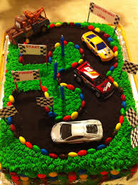 3rd Birthday Cake Race Car Track Party In 2019 3rd Birthday