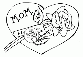 Mom I Love You Mothers Day Coloring Page For Kids Coloring Pages
