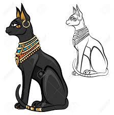 Egypt Cat Goddess Bastet Egyptian God Ancient Figurine Sitting