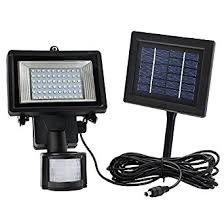 XEPA 600 Lumen 160 Degree Outdoor Motion Activated Solar Powered Led Security Light Solar