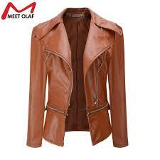 2019 leather jacket women soft pu faux leather er jackets motorcycle biker short coats jaqueta feminina plus size 3xl yl377 from feixianke