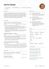 Certified Developer Resume 8 Tableau Resume Examples For 2019 Tableau Developer Resumes