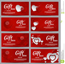 Gift Certificates For Your Business Gift Voucher Template For Your Business Valentine S Day Heart Stock