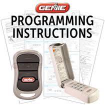 genie garage door opener manualGenie Garage Door Opener Help