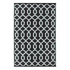 out of stock valencia black white lightweight indoor outdoor reversible plastic rug