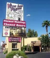 viva las vegas wedding chapel is located about halfway between the strip and downtown las vegas