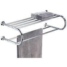 modern towel bar. Modern Double Towel Rack Shelf Chrome Bathroom Hanger Wall Mount Metallic Sink Bar