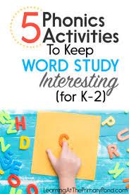 Activities Word 5 Phonics Activities To Keep Word Study Interesting For K 2