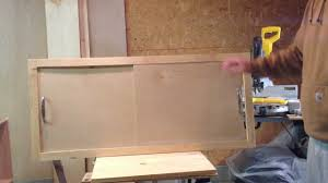 Storage Cabinet Sliding Doors How To Make A Sliding Cabinet Faceplate And Door Youtube