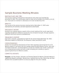 Meeting Minutes Template 13 Free Word Pdf Document