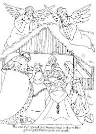 Nativity Coloring Pages Printable Nativity Scene Coloring Sheets