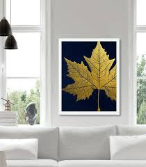 large gold leaf wall art