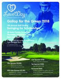 Loveway Golf Outing Flyer 2018 Loveway