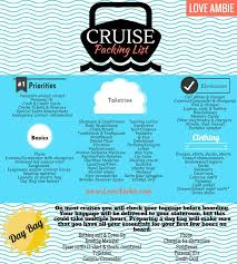 Cruise Packing List Cruise Packing List Love Ambie