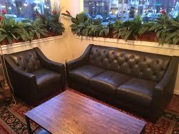 macy s claudia ii genuine leather sofa