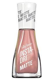 Anc Nails Color Chart Sally Hansen Insta Dri Matte Metallics In Rose Flush
