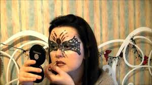 halloween face paint look y spider mask