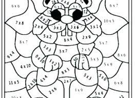 Multiplication Coloring Worksheets 6th Grade Halloween Pdf Christmas