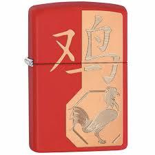 <b>Зажигалка Classic</b> с покр. <b>Red</b> Matte красная Zippo 29259 GS ...