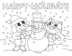 Small Picture Happy Holidays Coloring Pages Get Coloring Pages